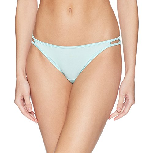 (Vanity Fair Women's Illumination Body Shine String Bikini Panty 18108, Mint Condition, Large/7)