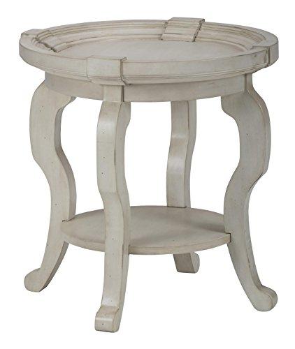 Jofran Sebastian Round End Table in Antique Cream