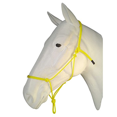 Nylon Halter Foal - Horse Rope Halters - 11 Sizes - Miniature, Foal, Weanling, Pony, Cob/Arab, Horse, Warmblood, Draft & Custom (Miniature Foal, Yellow)