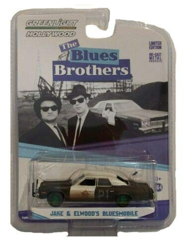 Greenlight Chase Green Machine 44710-C Blues Brothers 1974 Dodge Monaco Bluesmobile 1:64 ()