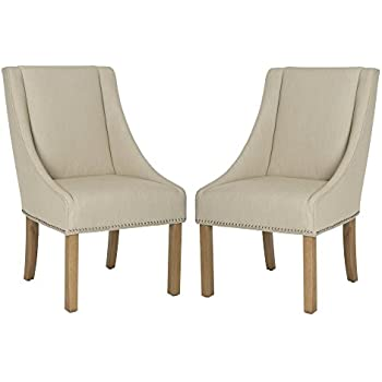 Safavieh Mercer Collection Morris Sloping Arm Dining Chair Set Of 2 Green Mist