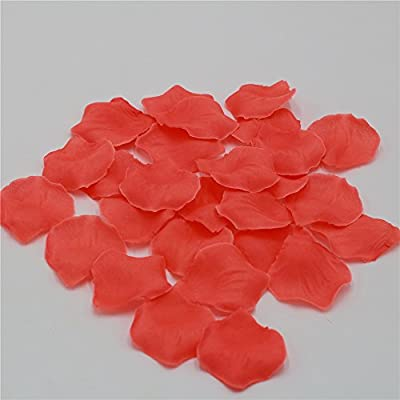 1000 Coral Rose Petals Artificial Flower Petals For Wedding Party Aisle Decor