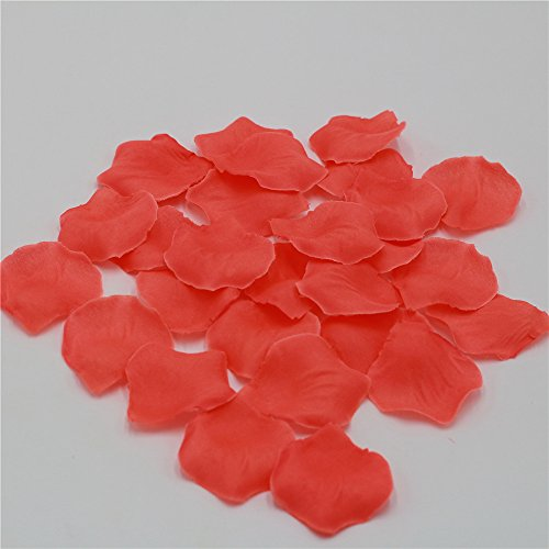 1000 Coral Rose Petals Artificial Flower Petals For Wedding Party Aisle Decor Coral Silk Rose Petals