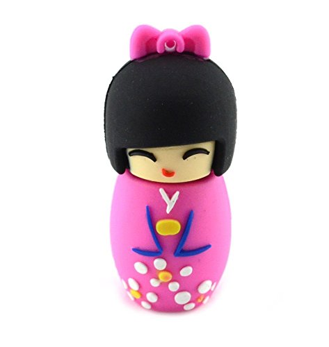 Price comparison product image D-CLICK TM High Quality 4GB / 8GB / 16GB / 32GB / 64GB / Cool USB High speed Flash Memory Stick Pen Drive Disk (32GB,  Japanese Doll Pink)