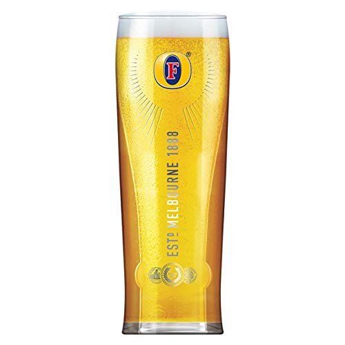 Fosters Pint Glasses CE 20oz / 568ml - Pack of 4 Beer Glasses, Glasses