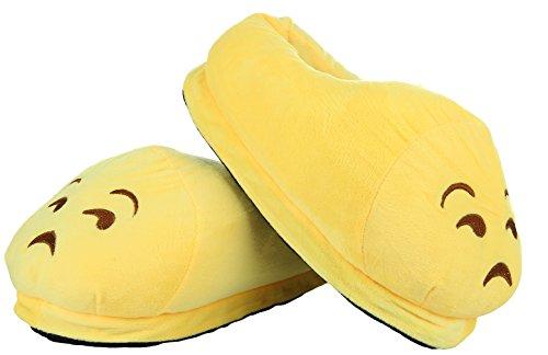 Lukis Emoji Hausschuhe Warm Winter Schuhe 35-42 Unerfreut