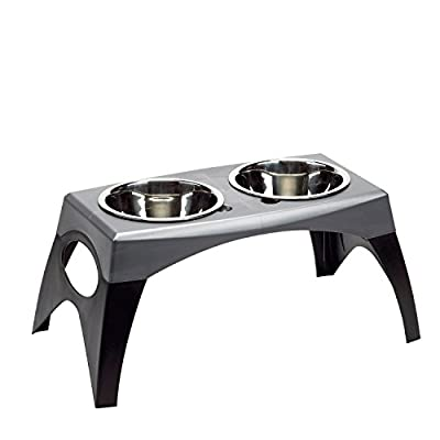 Bergan Elevated Double Bowl Feeder