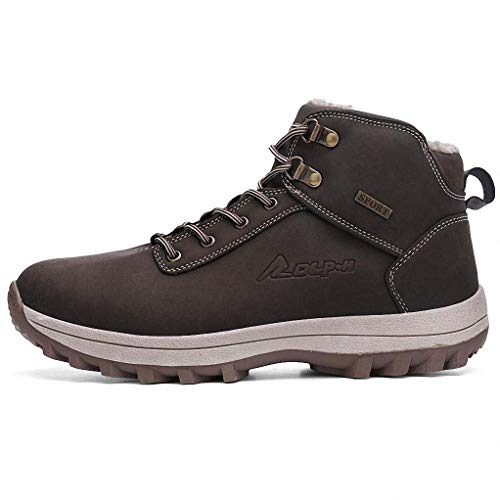 c9a7cb5acc206 Giles Jones Hiking Shoes Men Winter Plush Warm Snow Non-Slip Ankle Climbing  Boots