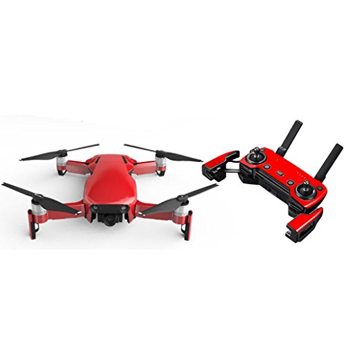 Price comparison product image 2018 Newest Sticker Accessories For DJI Mavic Air, Waterproof Lightning PVC Sticker Drone Body Shell Protection for DJI Mavic Air Drone (Red)