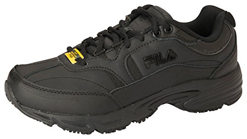 Fila Women's, Memory Workshift Slip Resistant Shoe Black 11 M