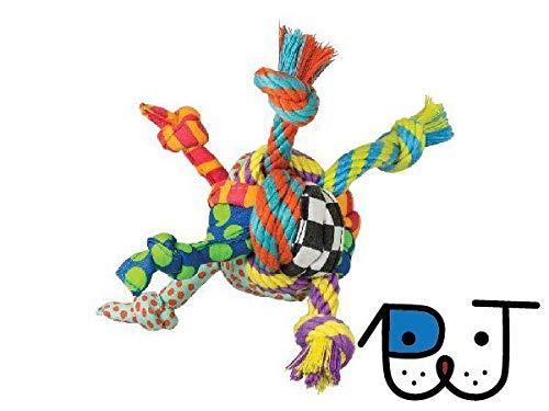 Brinquedo Bola de Corda Rag Rope Ball para Cães Petstages