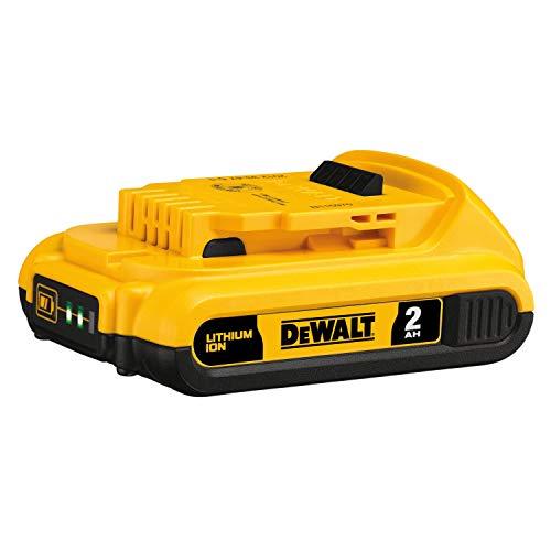 Batería DEWALT 20V MAX, compacta 2.0Ah (DCB203), amarillo, 7,00 pulgadas x 7,00 pulgadas x 3,00 pulgadas