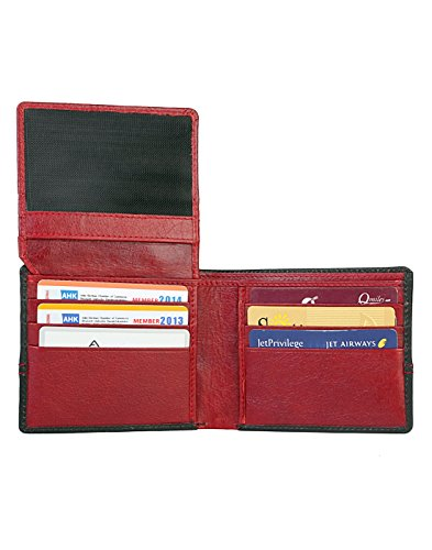 Collections Wallet Slots Bifold and Blue Red Men's Card JL 12 vPFdzww