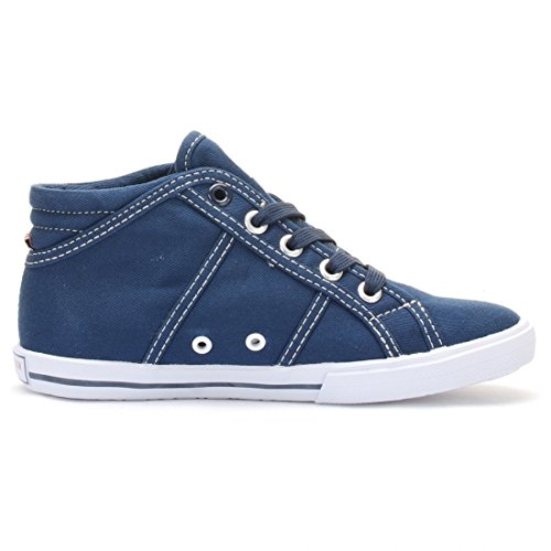 US POLO - Fashion / Mode - Hi Canvas Dark Blue Kid - Bleu