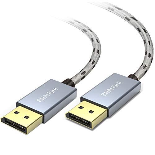 Cable Displayport 1.2 1080p-144hz 2mt Trenzado Snanshi