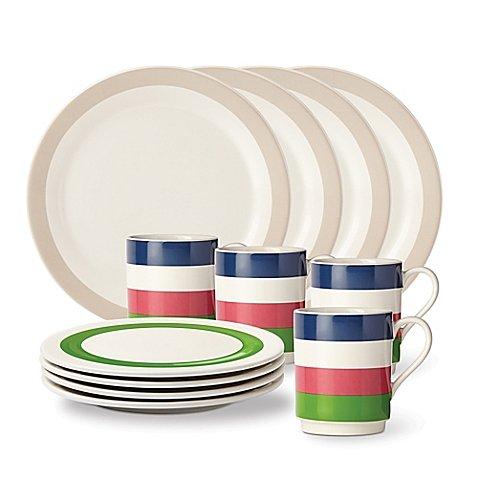 Kate Spade New York 12-Piece All in Good Taste Rainey Street Dinnerware Set in Stripes