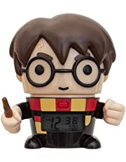 BulbBotz Harry Potter 2021791 Harry Potter Kids Night Light Alarm Clock with Characterised Sound | black/brown| plastic | 5.5 inches tall | LCD display | boy girl | official