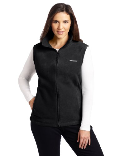 Columbia Women's Plus-Size Benton Springs Vest Plus, Black, 2X Columbia Chest Pocket Vest