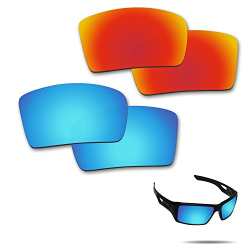 Fiskr Anti-saltwater Polarized Replacement Lenses for Oakley Eyepatch 2 Sunglasses 2 Pairs - Salt Optics