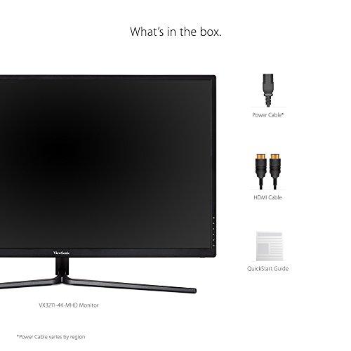 شراء ViewSonic VX3211-4K-MHD 32 Inch Widescreen IPS 4K Monitor with 99% sRGB Color Coverage HDMI VGA and DisplayPort