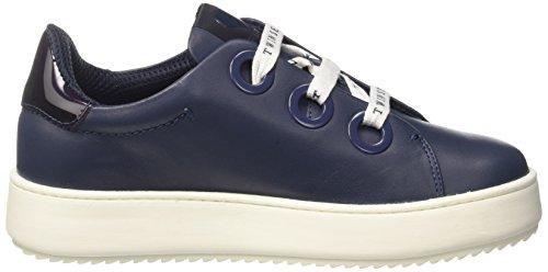 Basso blu Sneaker Milano Cs7ph3 Nautico Collo Blu Twinset A Donna wq7C8dXXW