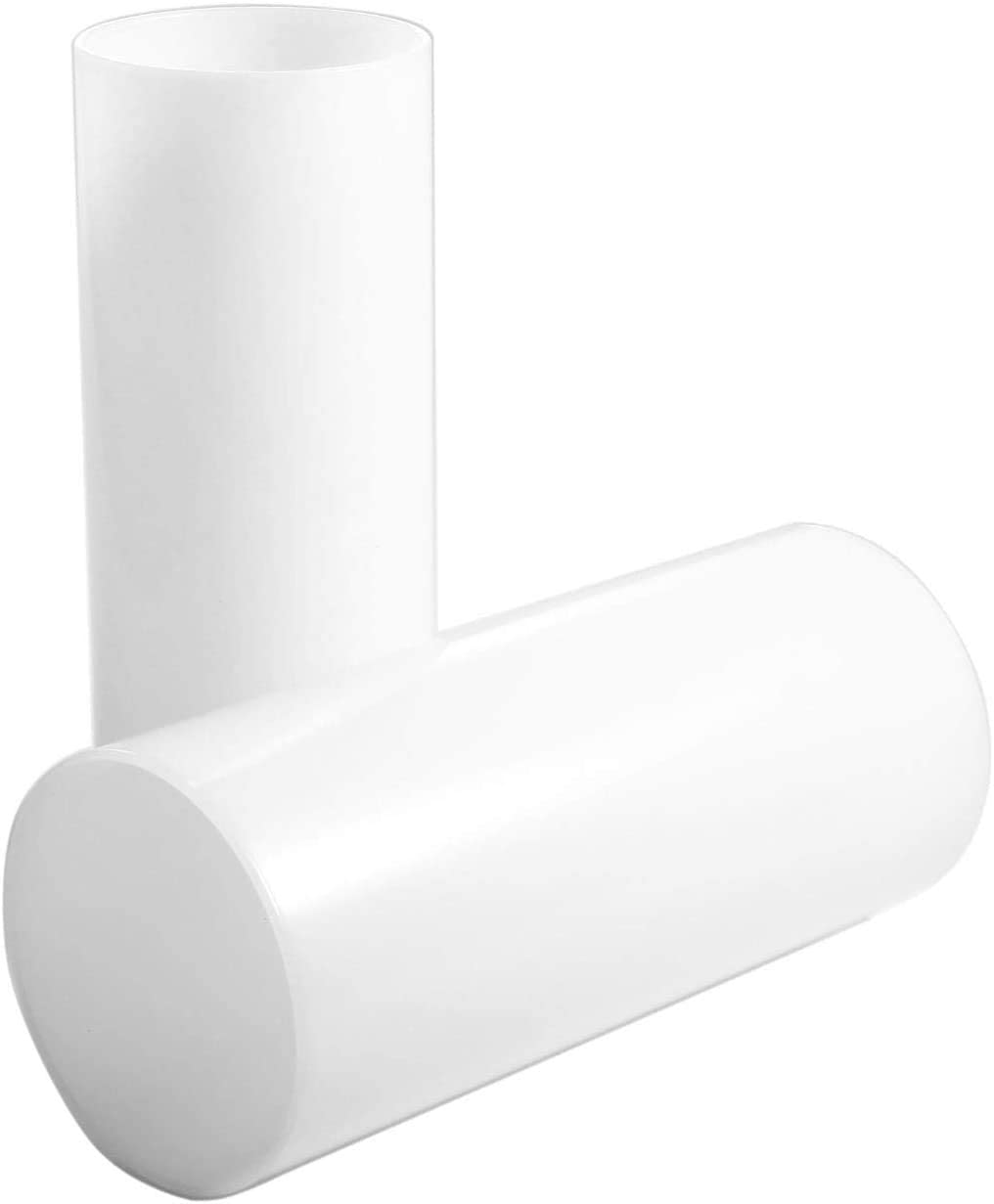 GoLucky White Glass Shade Straight Cylinder Lamp Shade,Glass Candle Shade Replacement Accessory Glass Fixture Replacement 10,10