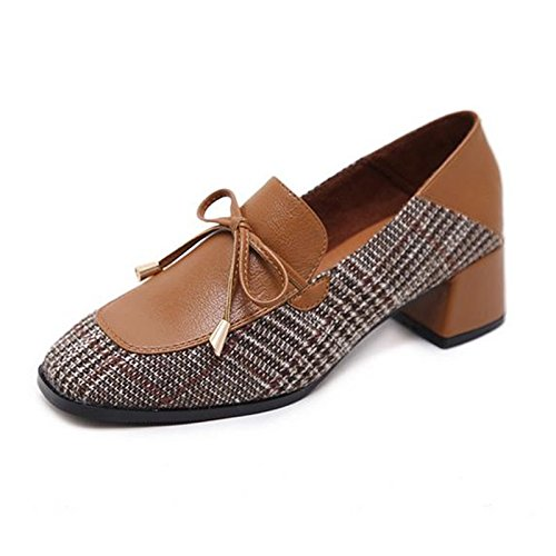 Schuhe Freizeitschuhe Quadrat Schuhe HGTYU Grob Neununddreißig Retro Farbe ZqRHBHx