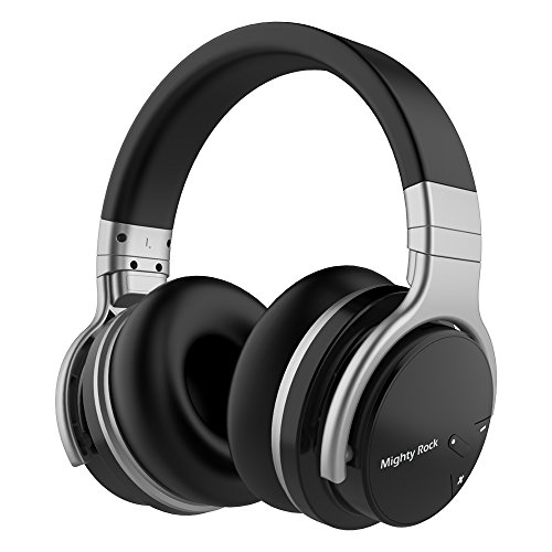 Mighty Rock Active Noise Cancelling Headphones Over Ear Bluetooth Headphones Hi Fi Deep Bass Wireless Headphones With Microphone Built in and 30H Playtime for Travel