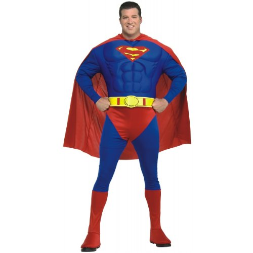 Deluxe Muscle Chest Superman Costume - Plus Size - Chest Size 46-50 (Superman Costume For Sale)