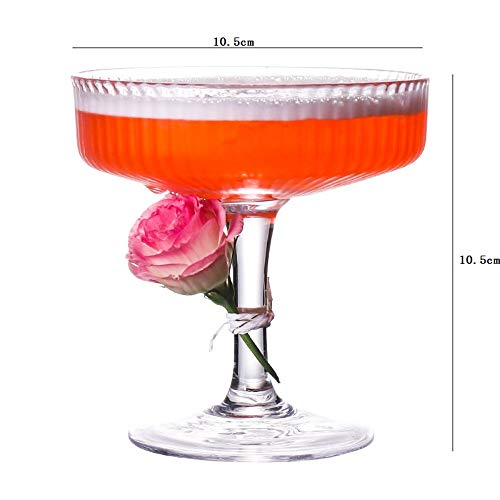 (Striped Cocktail Glass Creative Personality Martini Cup Bar Wine Glass Goblet 190Ml)