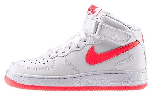 Nike - Air Force 1 Mid Glow Gs - Farbe: Orangefarbig-Weiß - Größe: 36.5EU