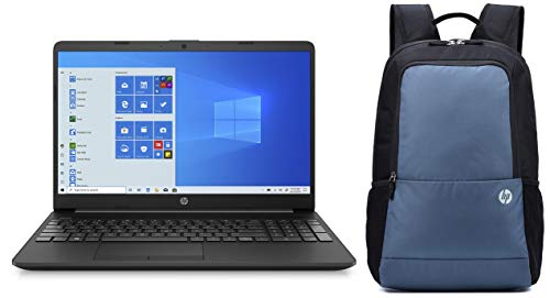HP 15 Core i5 Processor 15.6-Inch FHD Laptop (Intel i5-10210U/4GB/512GB SSD/MS Office/Win 10/Jet Black/1.74kg), 15s-du1065TU and Bag Combo