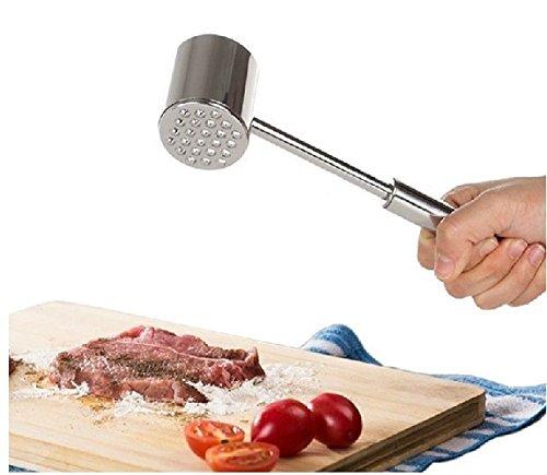 Fleischklopfer Edelstahl Schnitzelklopfer Steakhammer Küche Werkzeug Fleischhammer