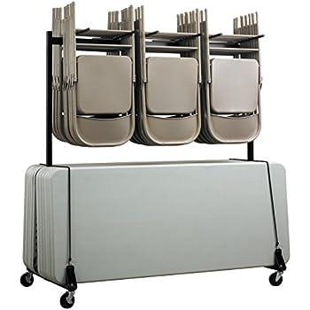 Amazon Com Adiroffice Two Tier Folding Chair Cart