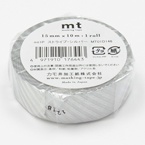 MT Washi Masking Tape Stripe Silver (MT01D146) Photo #4