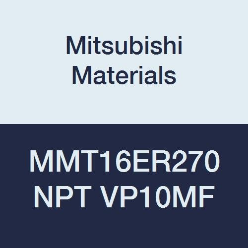 Pack of 5 Mitsubishi Materials MMT16ER270NPT VP10MF MMT Series Carbide G-Class External Ground Threading Insert NPT Type 2.7 mm Pitch Right Grade VP10MF 9.525 mm IC