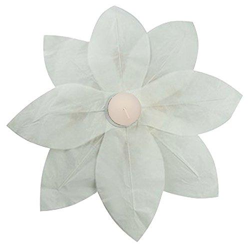 Lumabase 56006 6 Count Floating Lotus Paper Lanterns, White