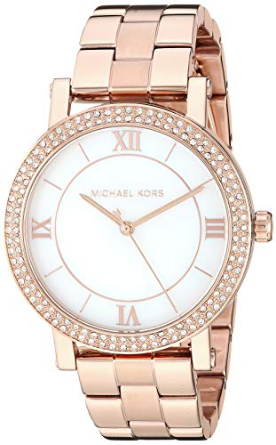 - Michael Kors Women's Norie Quartz Watch with Stainless Steel Strap, Rose Gold, 18 (Model: MK4405)
