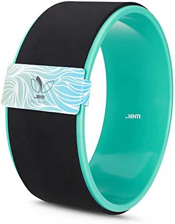 JBM Yoga Wheel for Stretching and Improving Backbends, Bridge Pose, Dharma Yoga Wheel Pose (12'' x 5'') , Relax Yoga Poses, Relieves Stress, Stretch and Open the Chest, Shoulders, Back, Hips and Spine