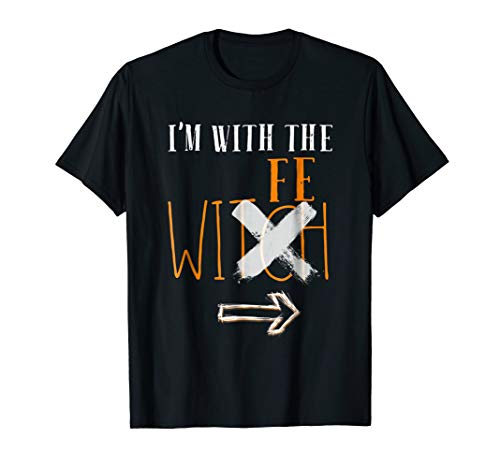 Mens I'm With The Wife Witch Halloween Last Minute Costume Shirt