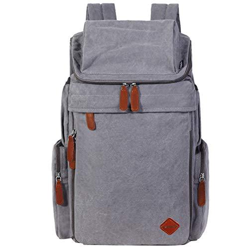 Boys Men Rucksack Ventcy Grey 28l Travel Teens Backpack Women Campus School Vintage Laptop 28L Urban Travel Middle Canvas College Backpack Girls School Brown qZ6Ztwr
