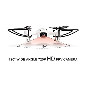 Drone with Camera, WINGLESCOUT H816HW WiFi FPV Quadcopter with 720P HD Camera Live Video App Control and Altitude Hold RC Helicopter for Enthusiasts by Cellstar Co.,Ltd