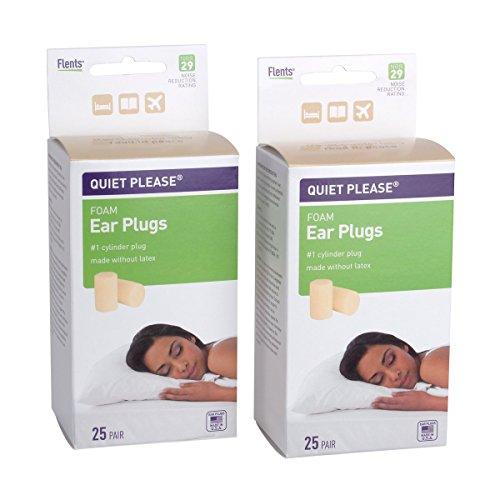 Flents Quiet Please Foam Ear Plugs (Two 25 Pair Packs) 29 NRR