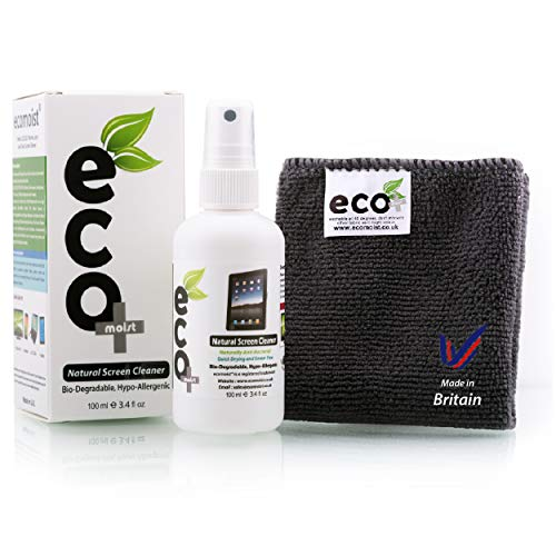 Ecomoist Natural Screen Cleaner 100ml with Fine Microfiber Towel
