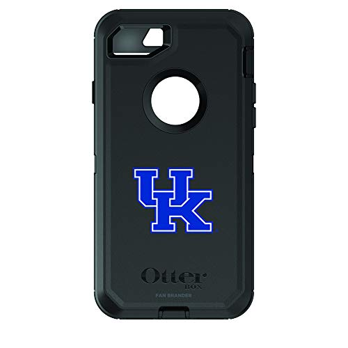 (Fan Brander NCAA Black Phone case with School Logo, Compatible with Apple iPhone 6 and Apple iPhone 6s and with OtterBox Defender Series (Kentucky Wildcats))