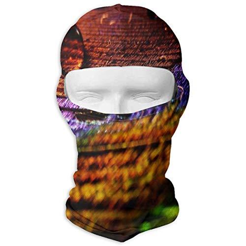 YIXKC Balaclava Peacock Feathers Purple Stylish Full Face Masks UV Protection Motorcycling for -