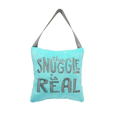 Pearhead Snuggle is Real Plush Door Hanger, Blue (Plush Hanger Door)