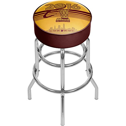 NBA Cleveland Cavaliers 2016 Chamipons Chrome bar Stool, Wine/Gold, One Size by Trademark Global