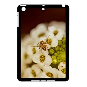 3D Case for IPad Mini 2D, Spider on a White Flower Case for IPad Mini 2D, Vinceryshop Black by supermalls