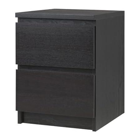 Ikea 2-Drawer Chest, Black-Brown